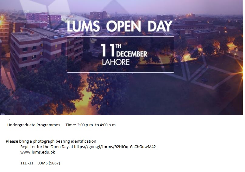 LUMS Open Day