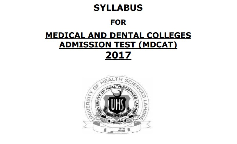 MDCAT Medical & Dental College Admission Test New Syllabus