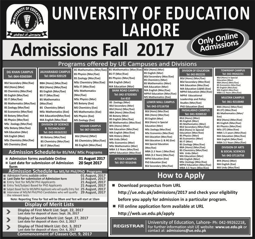 University of Education 2017