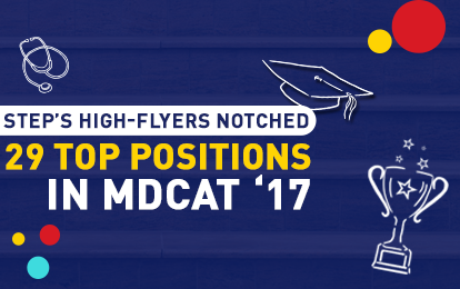 STEP's High-Flyers Notched Top Positions in MDCAT '17