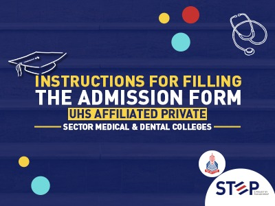 Important UHS Announcement regarding affiliated Private Sector Medical & Dental Colleges Admissions