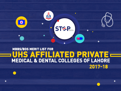 MBBS/BDS Merit List for UHS Affiliated Private Medical & Dental Colleges of Lahore