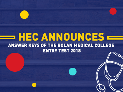 Answer Keys of the Bolan Medical College Entry Test 2018