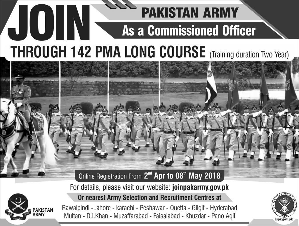 PAKISTAN ARMY as a Commissioned Officer (Through 142 PMA Long Course)
