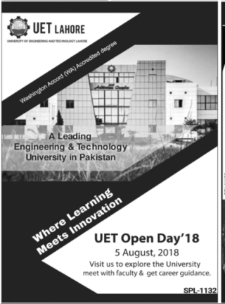 UET, Lahore Open Day '18