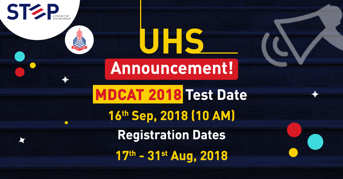 MDCAT 2018 Test Date Announced by UHS