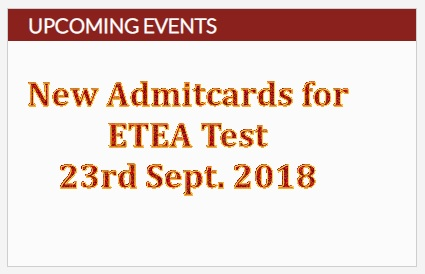 ETEA Medical Entrance Test 2018 has been rescheduled
