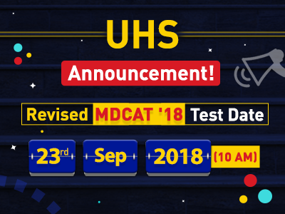 Revised MDCAT '18 Test Date Announced by UHS