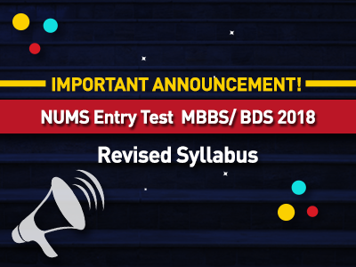 Revised Syllabus for NUMS MBBS/BDS 2018