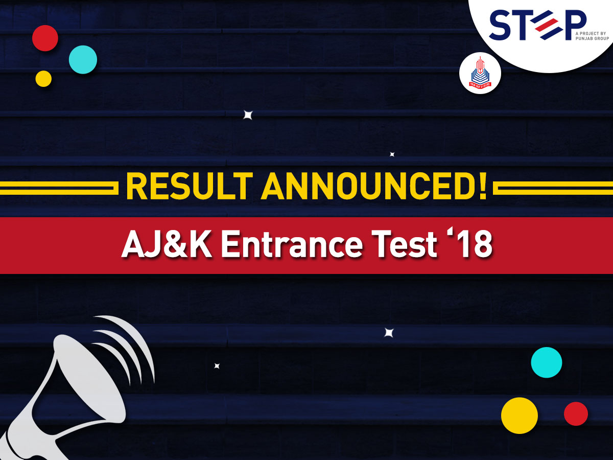 Result Announced for AJ&K Entrance Test '18