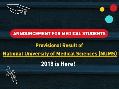Provisional Result of NUMS 2018 is here!