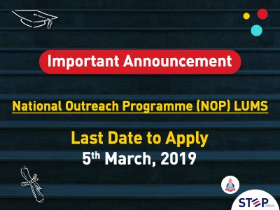 NOP – LUMS 2019 is Announced