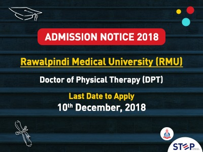 Rawalpindi Medical University opens DPT admission
