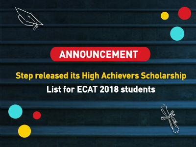 High Achievers Scholarship  list  of STEP students of ECAT