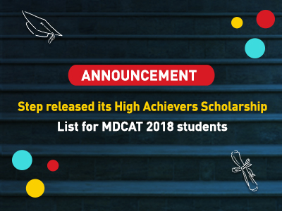 High Achievers Scholarship list of STEP students of MDCAT
