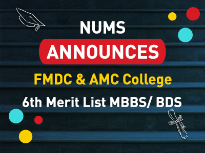 FMDC & AMC College 6th Merit List