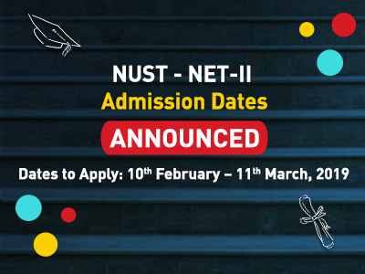 NUST Announced Admission NET-II 2019