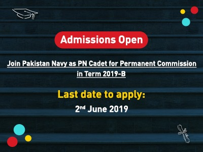 Admissions Open Pakistan Navy As Cadet 2019-B