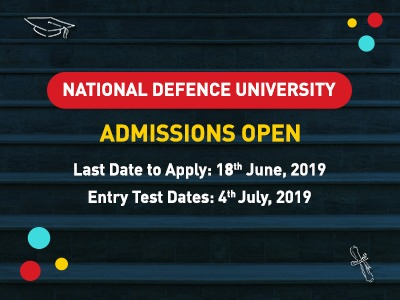 National Defense University Admission Open 2019