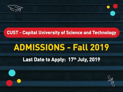 CUST University Admission Open 2019
