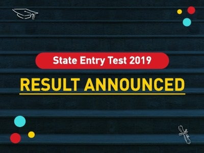 State Entry Test Result 2019