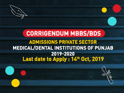 Admissions Private Sector MedicalDental Institutions of Punjab