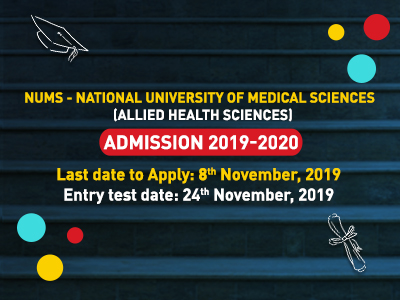 NATIONAL UNIVERSITY OF MEDICAL SCIENCES ADMISSIONS IN ALLIED HEALTH SCIENCES- SESSION 2019-20