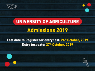 University Of Agriculture Faisalabad Admissions 2019