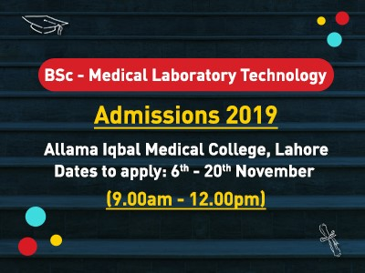 BSc- Medical laboratory Technology – Admissions 2019
