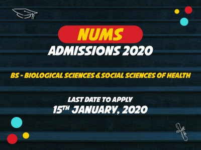 NUMS ADMISSIONS 2020
