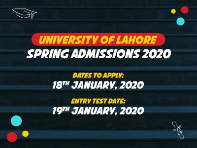 University of Lahore Spring Admissions 2020