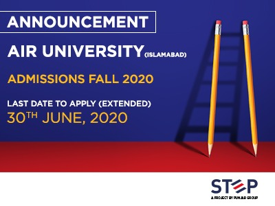 Air University (Islamabad) Admissions fall 2020