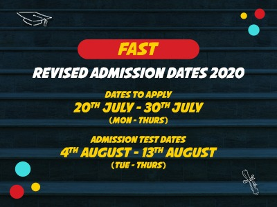 FAST Revised Admission Dates 2020