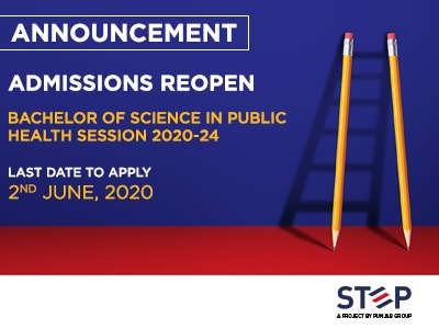 Admission for Bachelor of Science in Public Health Session 2020-24