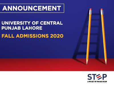 University Of Central Punjab Lahore FALL Admissions 2020