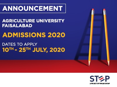 Agriculture University Faisalabad Admissions 2020