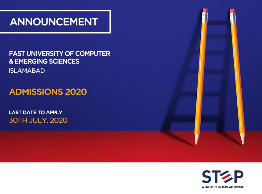 Fast National University of Computer & Emerging Sciences Admissions 2020