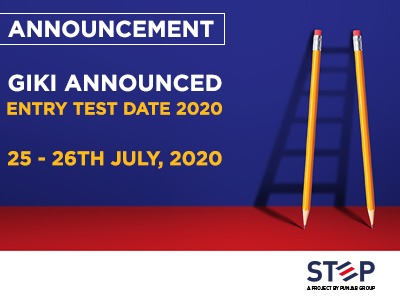Giki Announced Entry Test Date 2020