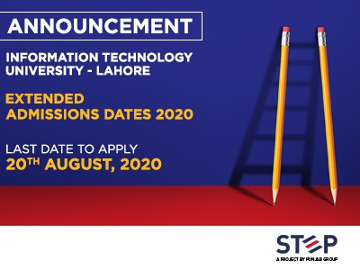 Information Technology University, Lahore Extended Admissions dates 2020