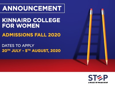 Kinnaird College For Women Admission Fall 2020