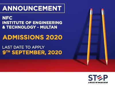 NFC – Institute of Engineering & Technology-Multan Admissions 2020