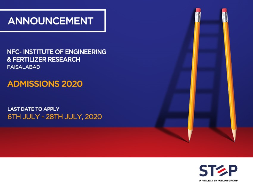 Nfc-Institute Of Engineering & Fertilizer Research Faisalabad Admissions 2020