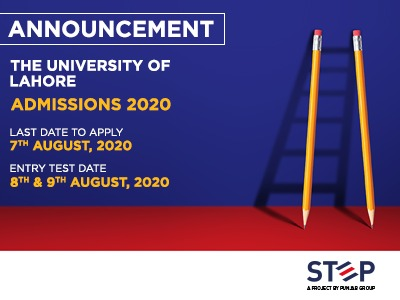 The University of Lahore Admissions 2020