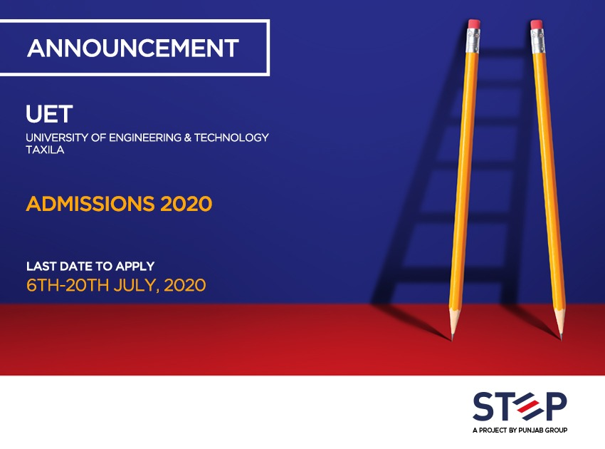 University of Engineering & Technology Taxila Admissions 2020