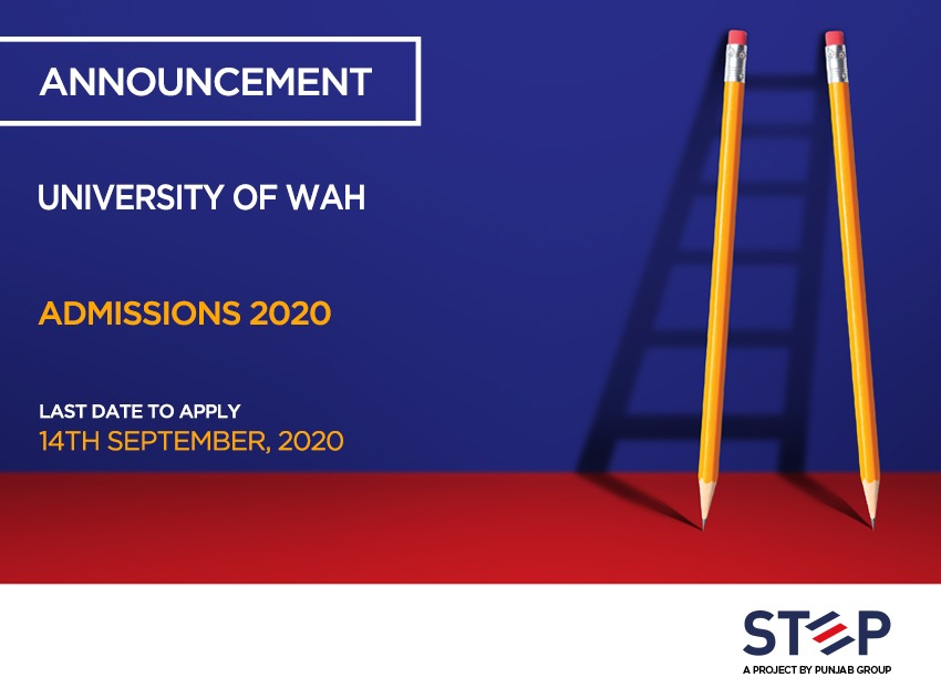University of Wah Admissions 2020