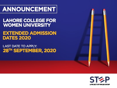 LAHORE COLLEGE FOR WOMEN UNIVERSITY Extended Admission Dates 2020
