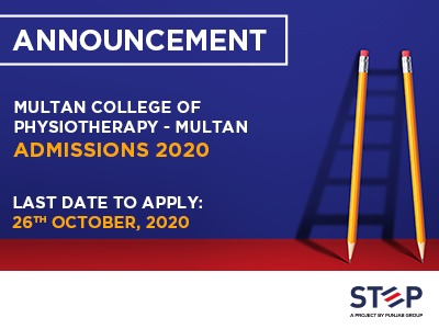 Multan College of Physiotherapy – Multan Admissions 2020