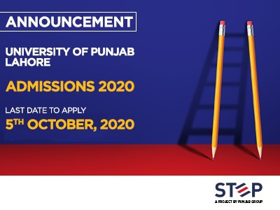 University of the Punjab – Lahore Admissions 2020