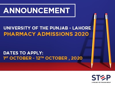 University of the Punjab – Lahore Pharmacy Admissions 2020