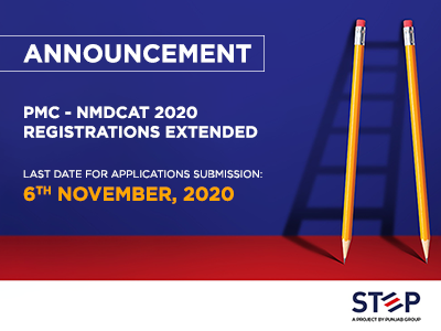 PMC – NMDCAT 2020 Registrations Extended